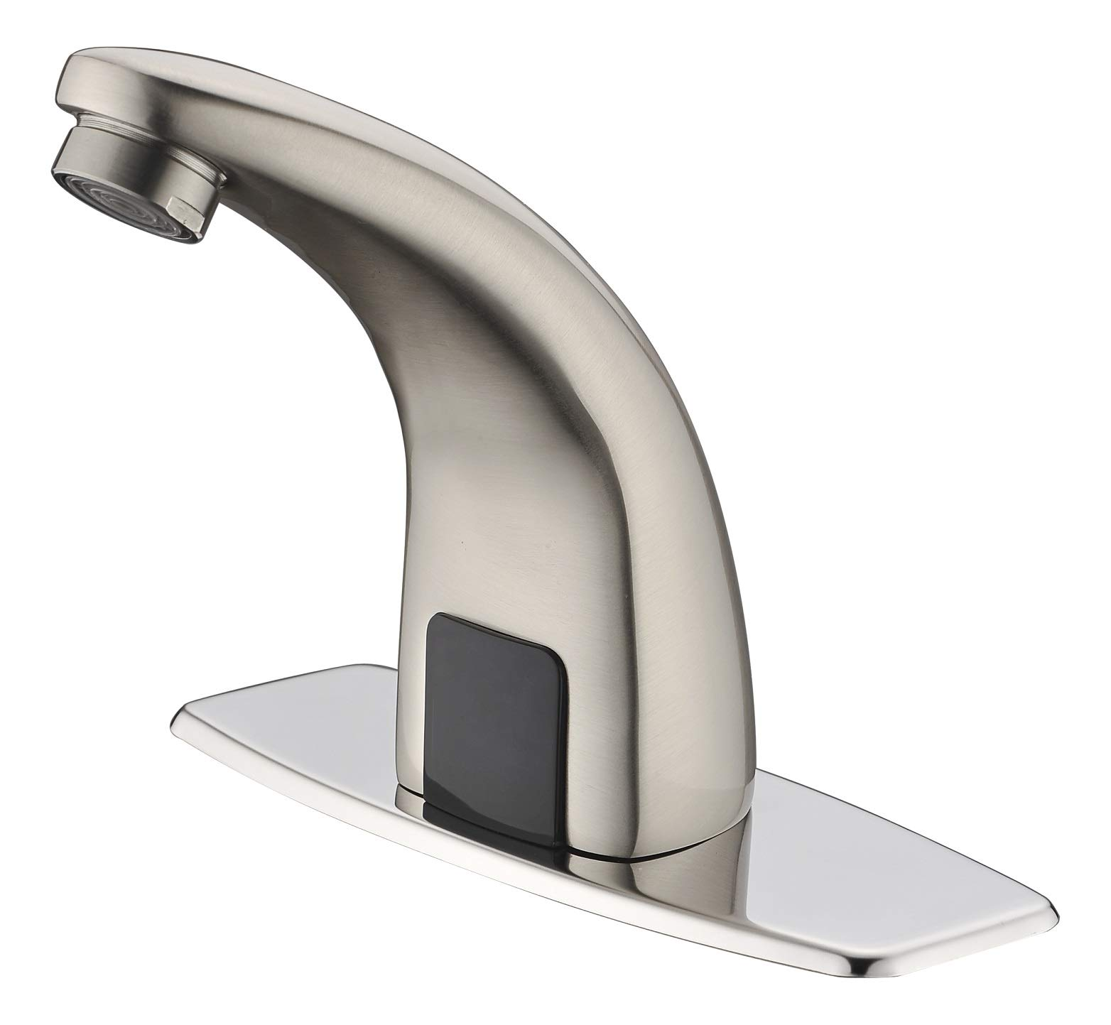 Gangang Lead Free Automatic Sensor Faucet Cold and Hot Single Handle Bathroom Electrical Basin Robinet Faucet (Stainless Steel) by Gangang