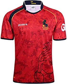HUAXUN Camiseta de Rugby para Hombre, Camiseta de Entrenamiento de Polo de Rugby español 2019, Camiseta de fútbol de partidario de la selección de España, cumpleaños-S: Amazon.es: Ropa y accesorios