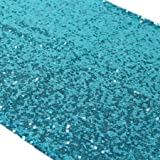 Turquoise Sequin Table Runner 14