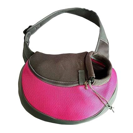 Daeou Mochila para Mascotas Un Hombro Hombro Respirable Mochila Mochila Fuera Transpirable fácil Llevar PU