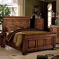 247SHOPATHOME Idf-7812OAK-Q Bed-Frames, Queen, Oak