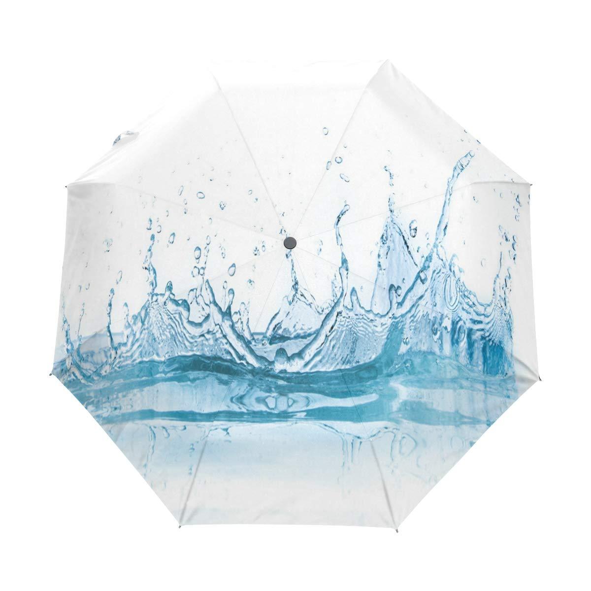 OuLian 傘 高速 水滴 ゴルフ 旅行 太陽 雨 防風 自動傘 UV保護付き ガールズ ボーイズ キッズ   B07MV9XGLC