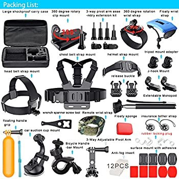 Erligpowht Action Camera Mounts For Gopro 6 Gopro Hero 5 4 3 Gopro Hero Session Sj4000 Sj5000 Akaso Apeman Xiaomi Yi Wimius Sony Sports Dv With Gopro Hero Accessories Carry Case 1
