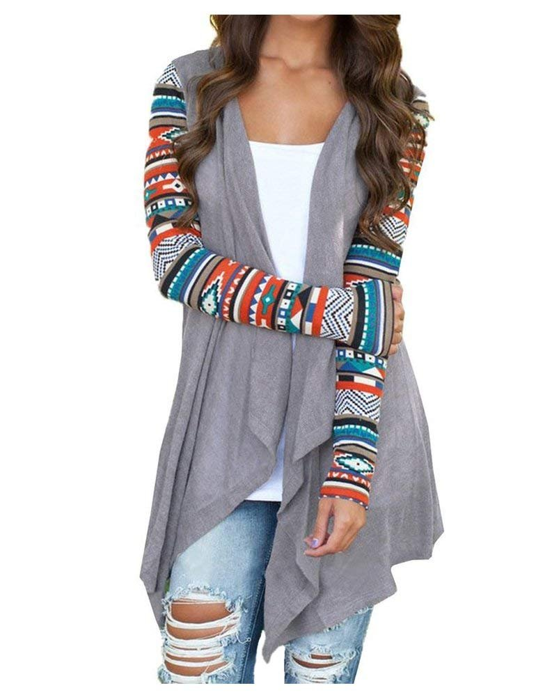 AuntTaylor Women's Plain Open Front Hi-Low Irregular Hem Vest Cardigan Gray 5XL