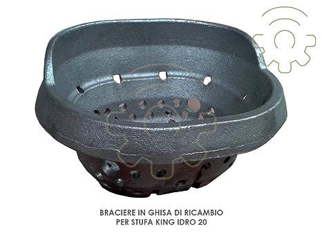 Brasero de hierro fundido de recambio para estufa de A pellets King, 20 Dimensiones 14