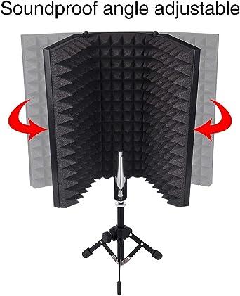 Protector de aislamiento de micrófono compacto para mesa con ...