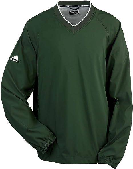 8b618a097133 Adidas Golf Men s ClimaProof Long Sleeve V-Neck Wind Shirt- Rainforest White  A47