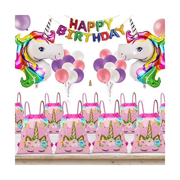 24 Pack Unicorn Drawstring Bag for Gift Bag, Unicorn Party Favor Bags, unicorn party bags for kids birthday Gift Bag Unicorn Party Supplies 4