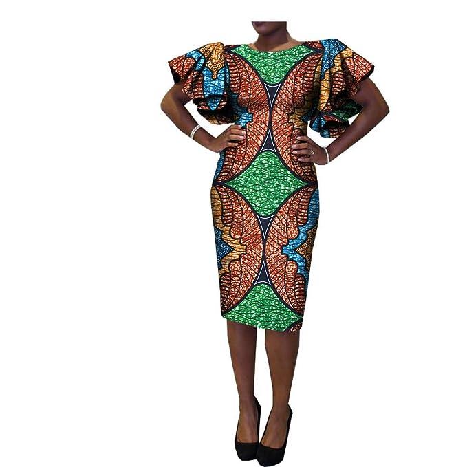 Amazon.com: RealWax - Vestido de tela africana para mujer y ...