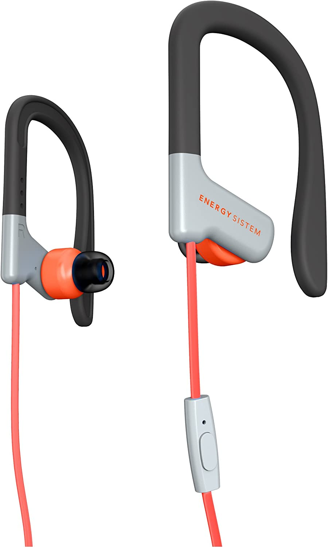 Energy Sistem Earphones Sport 1 (Auricular intrauditivo, Sistema de sujeción, micrófono, Control de reproducción, Sistema de fijación) Rojo