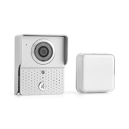 oneConcept DoorGuard WiFi Mirilla con cámara 6x LED Infrarrojos Timbre puerta (Conexión WIFI iOS Android