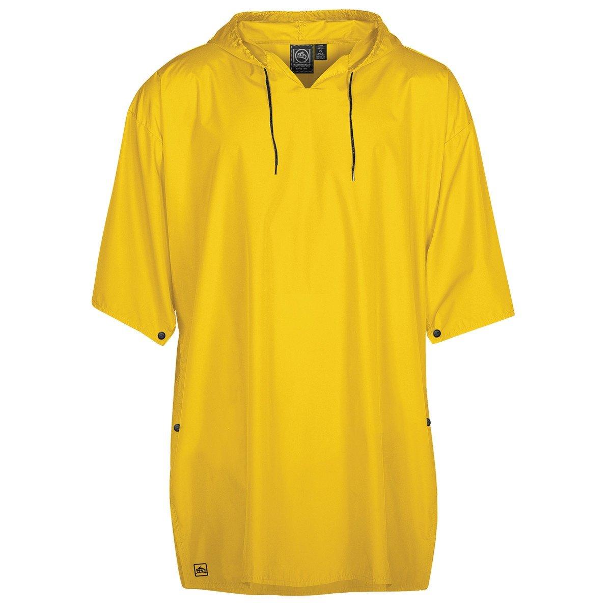 Stormtech Unisex Waterproof Status Snap Fit Rain Poncho (One Size) (Cyber Yellow)