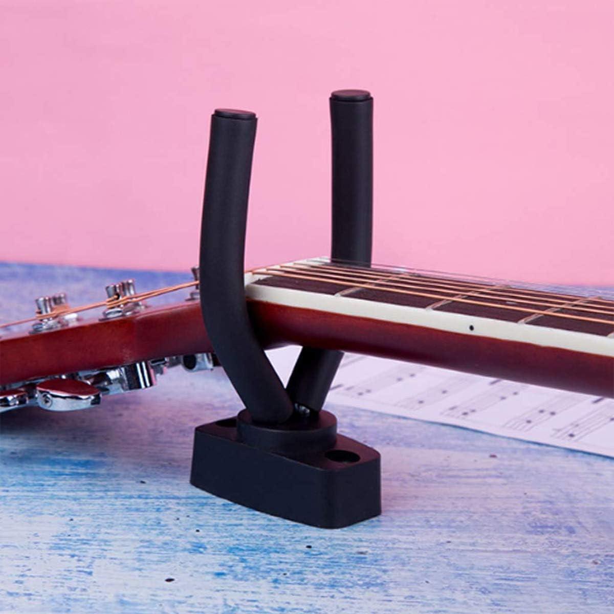 nero 2 pezzi Appendino per chitarra supporto espositore per violino ukulele chitarra
