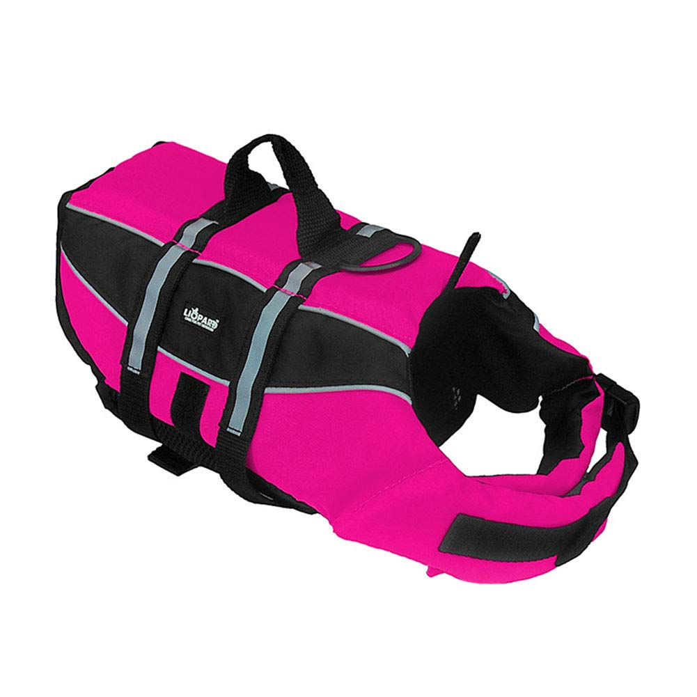 Pink XS Pink XS Sports Style Ripstop Dog Life Jacket with Superior Buoyancy & Rescue Handle,Pink,XS