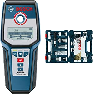 Bosch Digital Multi-Scanner GMS120 & 91-Piece Drilling and Driving Mixed Set MS4091