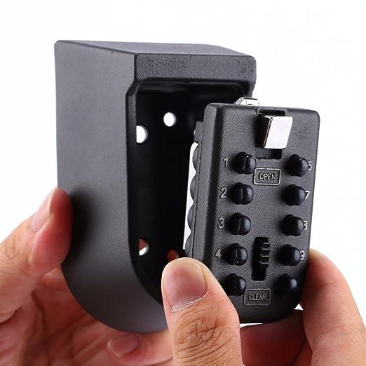 Zeerkeer - Caja de seguridad con cerradura de seguridad para interiores y exteriores, con combinación de códigos, cerradura de seguridad para el hogar, ...
