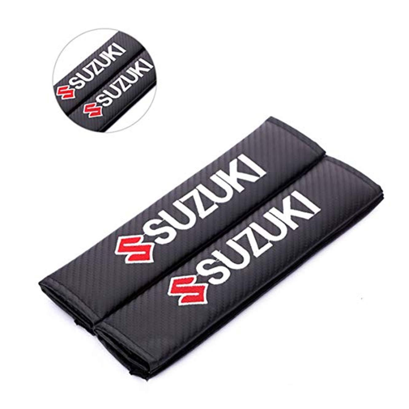 fanlinxin Auto-Sicherheitsgurtpolster mit Stickerei f/ür Suzuki 2 St/ück