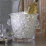 Luxe Lion Head Glass Ice Bucket | Cooler Wine Chiller Medallion