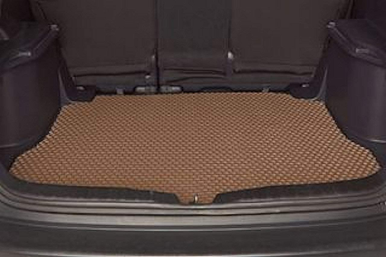Intro-Tech TO-693-RT-I Hexomat Ivory Cargo Area Custom Fit Floor Mat for Select Toyota Landcruiser Models w//Holes for3rd Row Rubber-Like Compound
