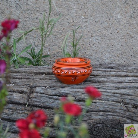 D 12 cm Cendrier moyen mod/èle anti fum/ée Tatou/é orange Yodeco
