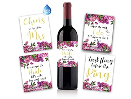 4 bachelorette party wine labels labels for engagement party gift bridal shower