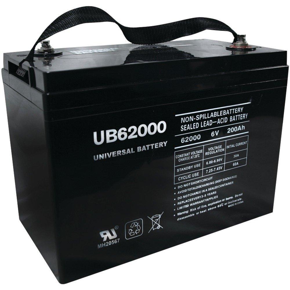 UB62000 6V 200AH Battery for Champion M83CHP06V27 Golf Cart RV Boat