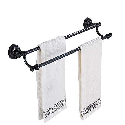 Amazoncom Rozin Oil Rubbed Bronze Bathroom Double Towel Bars Wall