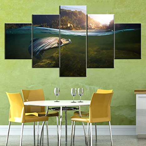 Home Decor Poster Wall Art U Fishes Art//Canvas Print