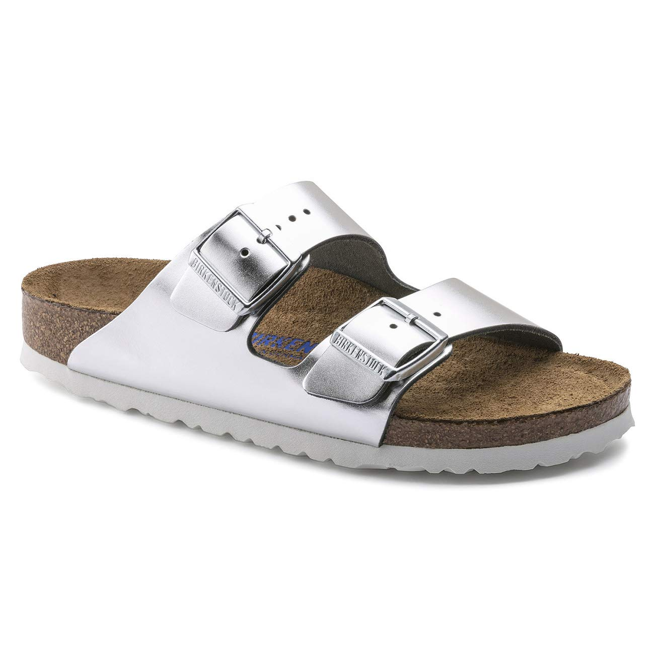 Birkenstock Arizona Leather Sandals Silver Size 36