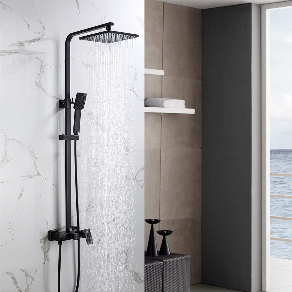 Auralum Mezclador de ducha 2 funciones para baño, sistema de ducha ...