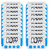 60 second countdown timer - 20 Pack Big Screen Digital Kitchen Timer Magnetic Back Minute Second Count Up Countdown