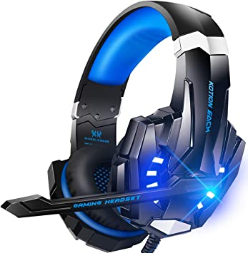 Amazon Com Bengoo G9000 Stereo Gaming Headset For Ps4 Pc Xbox One Controller Noise Cancelling Over Ear Headphones With Mic Led Light Bass Surround Soft Memory Earmuffs For Laptop Mac Nintendo Ps3 Games