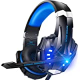 BENGOO G9000 Stereo Headset for PS4, PC, Xbox One Controller, Noise Cancelling Over Ear Headphones with Mic, LED Light…