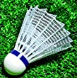Sportime Badminton Shuttlecocks - International Nylon - Pack of 6