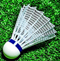 Sportime Badminton Shuttlecocks - International Nylon - Pack of 6