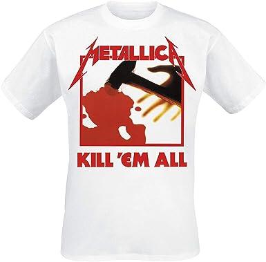 Metallica Kill Em All Hombre Camiseta Blanco, Regular: Amazon.es: Ropa y accesorios