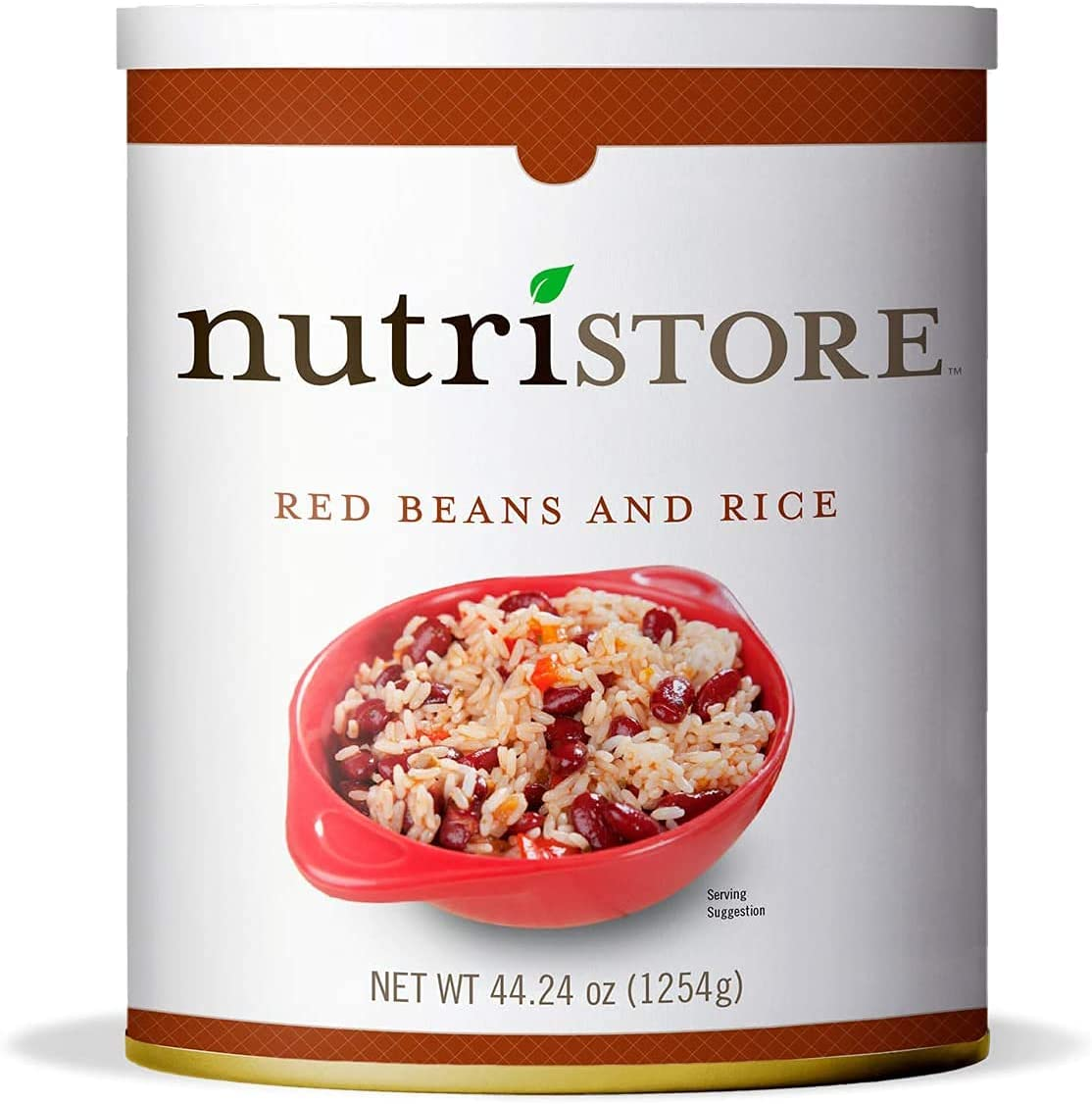Nutristore Red Beans and Rice #10 Can | Premium Variety Ready to Eat Meals | Bulk Emergency Food Supply | Breakfast, Lunch, Dinner | MRE | Long Term Survival Storage | 25 Year Shelf Life