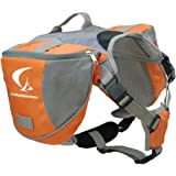 Columbustore Outdoor Adjustable Dog Saddle Bag Large Capacity Dog Backpack with Reflective Stripe