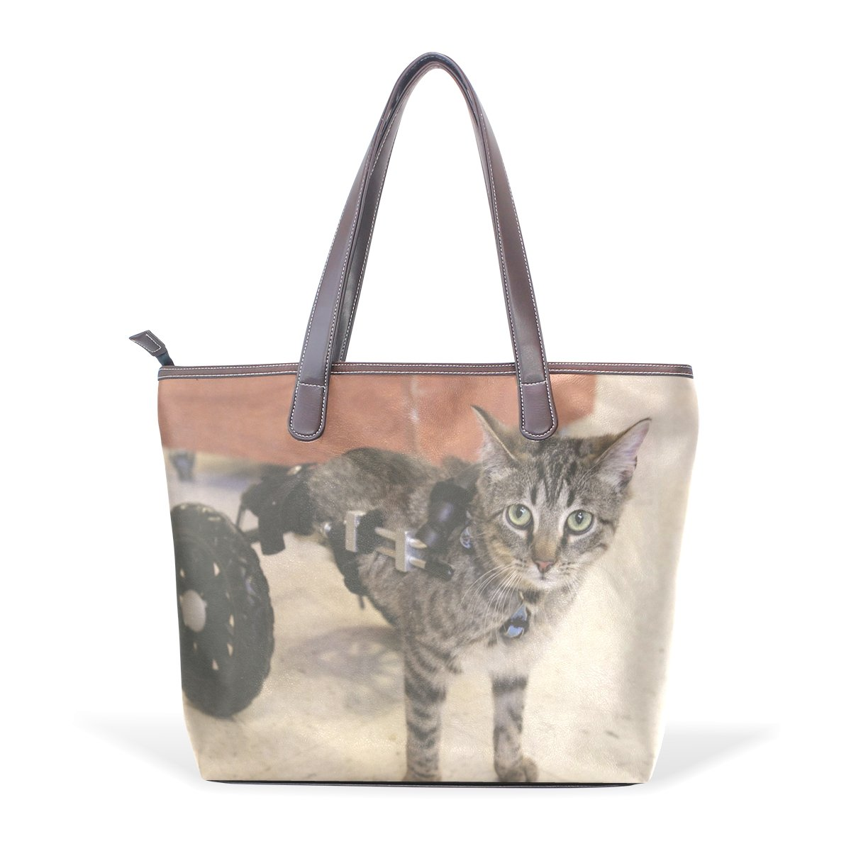 Mr.Weng Household Cat Bus Lady Handbag Tote Bag Zipper Shoulder Bag