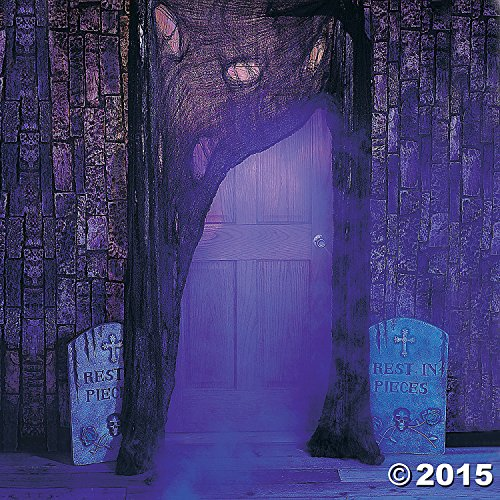 [Fun Express 25/5554 Halloween Polyester Super-Size Creepy Cloth, Gray] (Halloween Lighting)