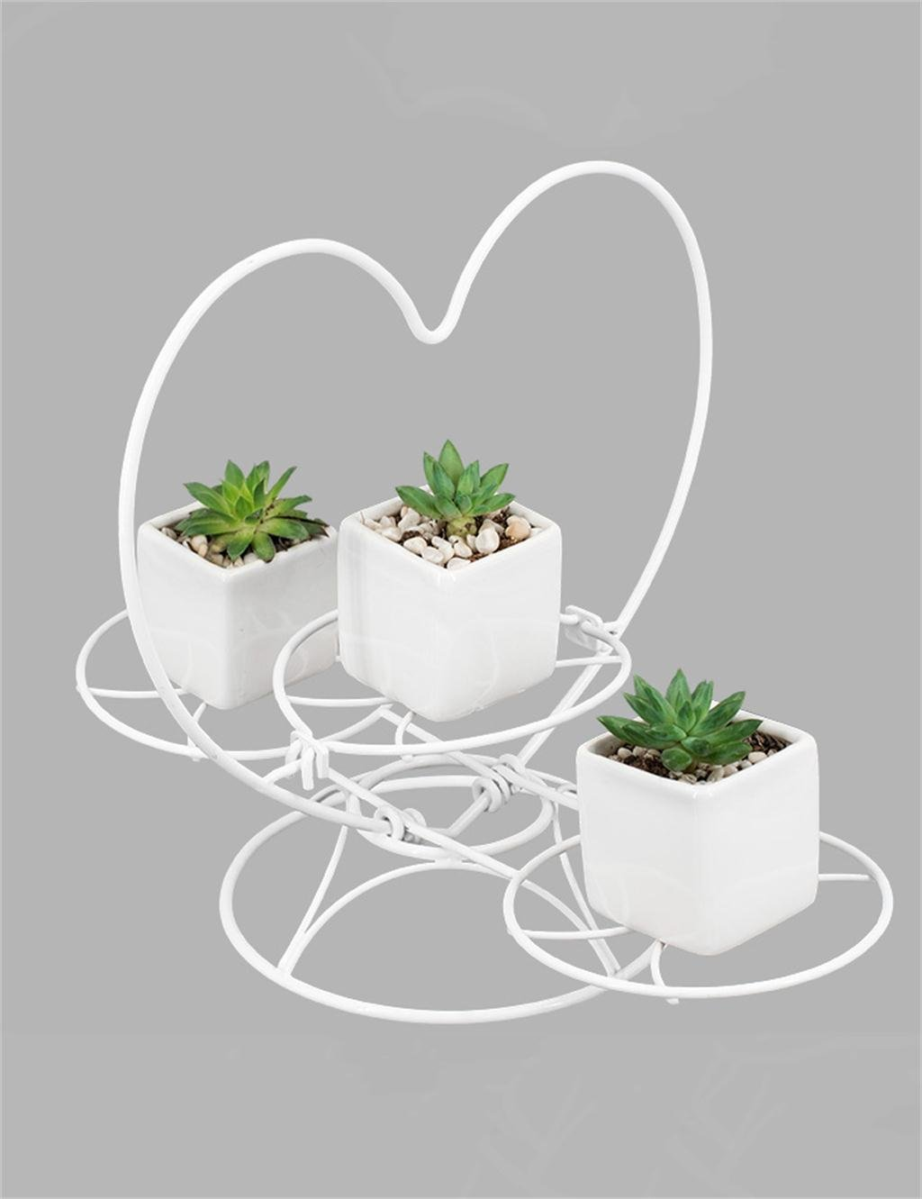 LB huajia ZHANWEI Europäischer einfacher Eisen-Blumen-Topf-Regal-Betriebs-Standplatz-Wohnzimmer-faltender Blumen-Zahnstange-Blumen-Topf-Halter (Farbe : Weiß)