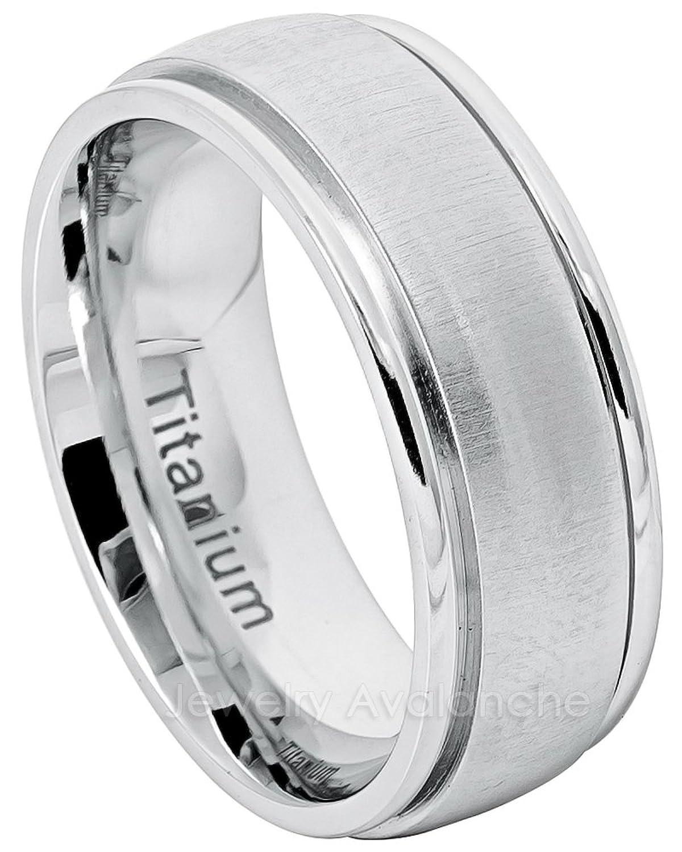 8 mmメンズドームチタン結婚指輪 – 快適フィットホワイトチタンリング B078Z4C731 9