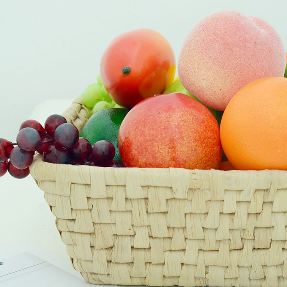 Artificielle Fruits M/élange dartificielle Apple Oranges Mangue Fruits Simulation R/éaliste Faux Fruits Nourriture pour d/écoration de La Maison Home Party Decor X 4