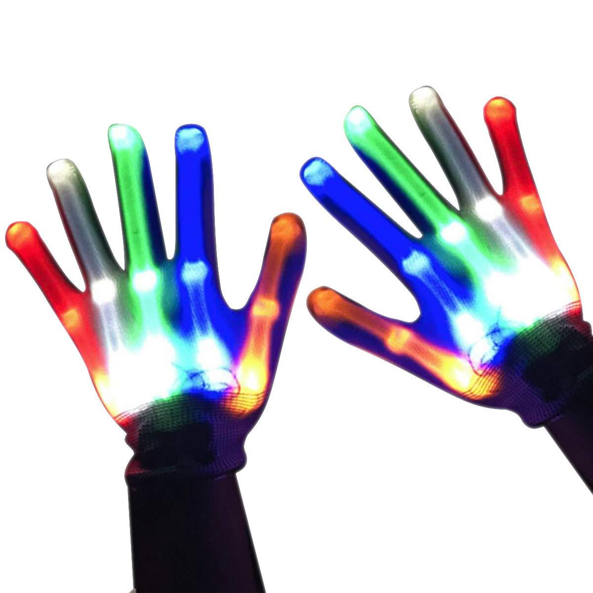 Los Mejores Regalos Easony Guantes de Luz LED Intermitentes Geniales