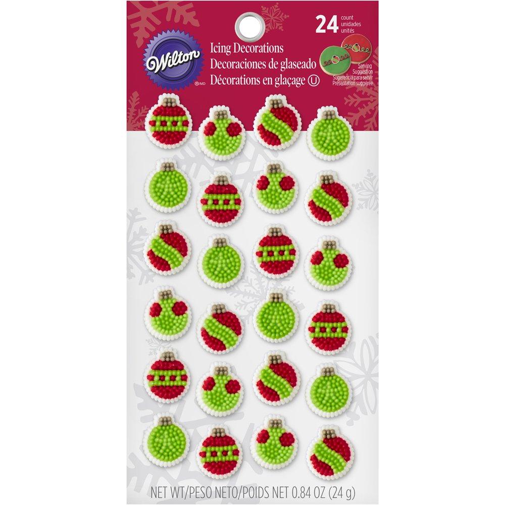 Mini Ornaments Christmas Sugar Decorations Cookie Cupcake Cake 12 ...