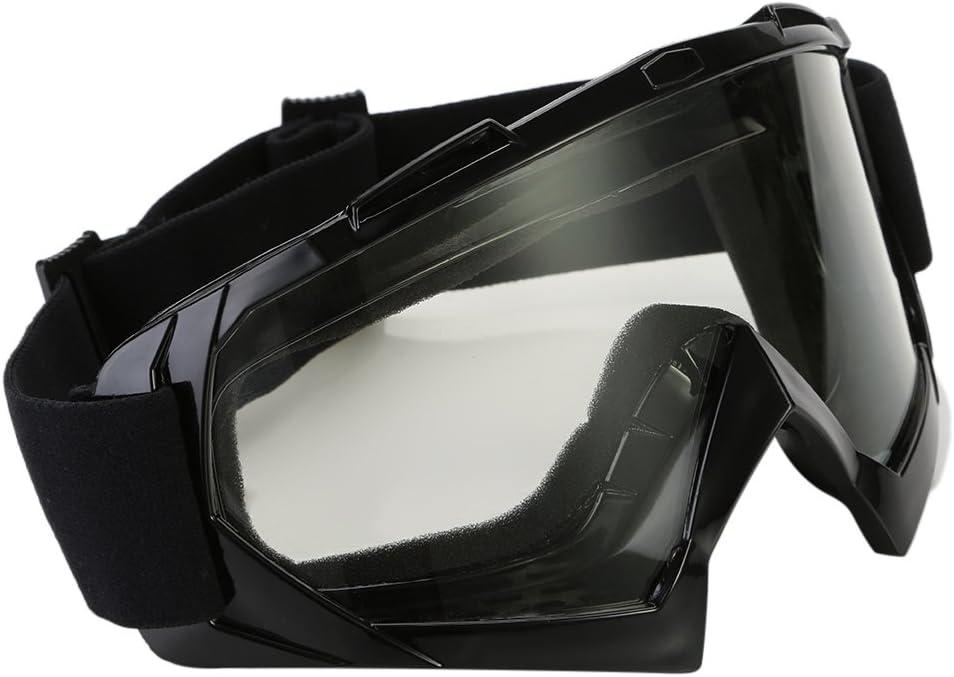 TKOOFN Motorradbrille schutzbrille Winddicht Staubschutz Brille Transparent Linse PC+TPU Materialie f/ür Stra/ßenrennen Radfahren Skifahren
