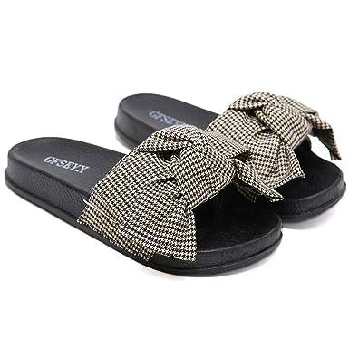 c7eb1d6c1e399 Amazon.com: Memela Clearance sale Women Flip Flop Slipper Summer Bow ...