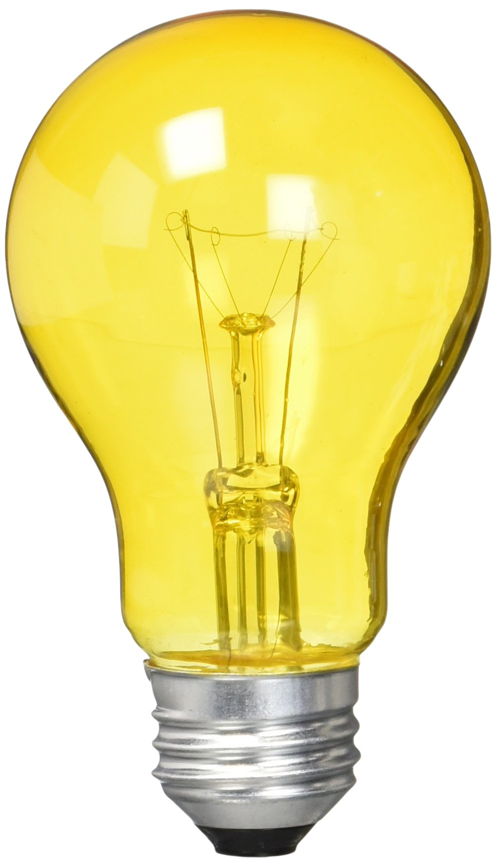 Westinghouse 0344300, 25 Watt, 120 Volt Trans Amber Incandescent A19 Light Bulb - 2500 Hours