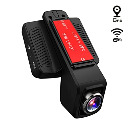 TOGUARD Cámara de Coche GPS WiFi Grande Ángulo de 170° Dash CAM Full HD 1080P