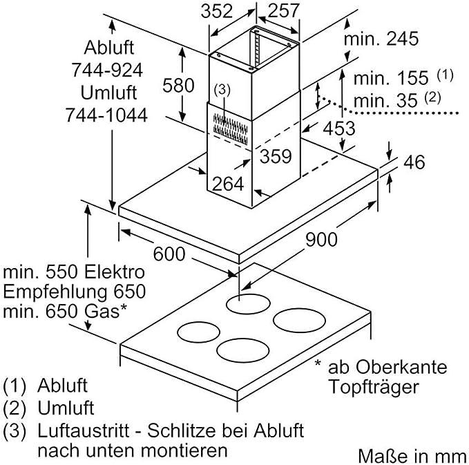 Siemens iQ500 LF97BCP50 - Campana (690 m³/h, Canalizado/Recirculación, A, A, B, 54 dB): Amazon.es: Hogar